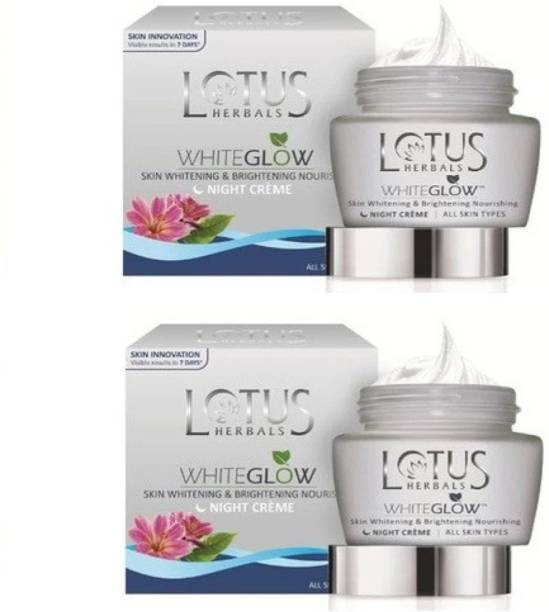 LOTUS HERBALS WhiteGlow Skin Whitening & Brightening Night Creme (pack of 2)