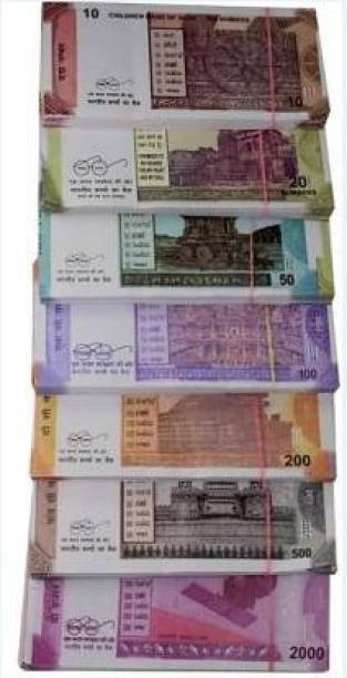 SURAJE FAKE CURRENCY (80X7) TOTAL NOTE = 560 Fake note Gag Toy