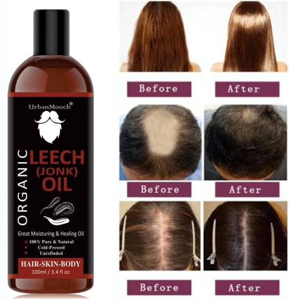 UrbanMooch Orignal Jonk Oil Leech Tail For Hair Regrowth control & hair fall For Men & Women- Hair Oil- Hair Oil