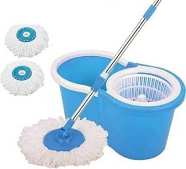 MiniPy Bucket Mop Self Spin Wringing 3 refills 360 Degree Spin Mop Refill, Mop, Bucket