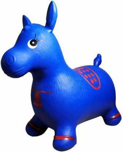 Tricolor Tri color Jumping and Riding Horse Bouncing Horse Hopper Animal Toy for Kids Inflatable Hoppers & Bouncer (Blue) Inflatable Hoppers & Bouncer