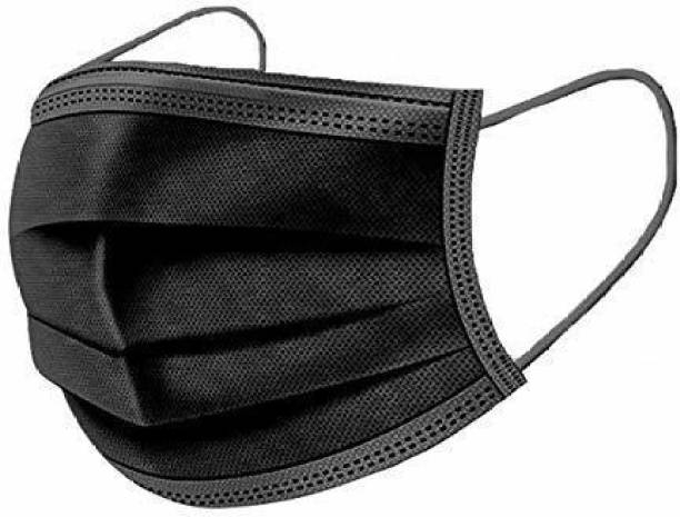 Desidiya 3-Ply Meltblown Disposable Surgical Face Mask With Nosepin (Pack of 50) CE and ISO Certified De-3plymask-50-BK Surgical Mask With Melt Blown Fabric Layer