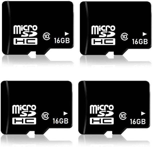 RKS 16GB MicroSD Cards Class10 Memory Card for Mobile, Tablet, Bluetooth Speaker, Home Theater ( Pack Of 4 ) 16 GB MicroSD Card Class 10 48 MB/s  Memory Card