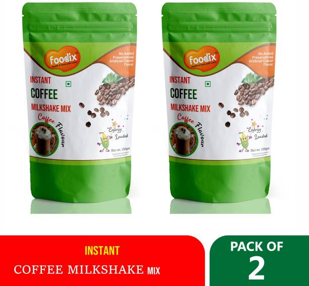 Foodix Instant Coffee Milkshake powder drink with both hot and cold milk 100X2