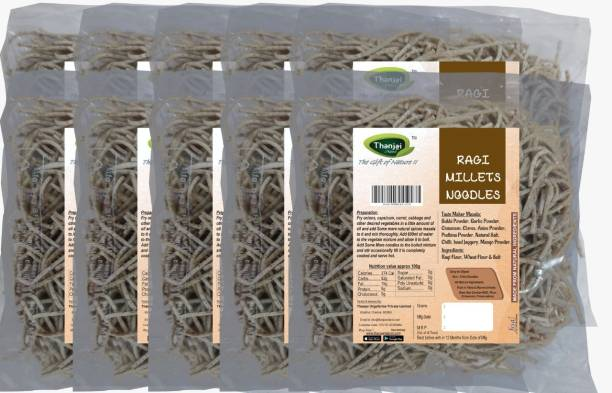 THANJAI NATURAL Ragi Millets Noodles 180g X 10 (Processed with Natural Ingredients , No Chemicals and No Preservatives) Instant Noodles Vegetarian