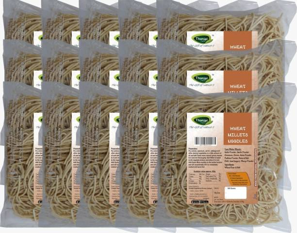 THANJAI NATURAL Wheat Millets Noodles 180g X 15 (Processed with Natural Ingredients , No Chemicals and No Preservatives) Instant Noodles Vegetarian