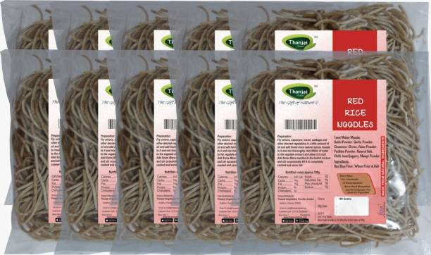 THANJAI NATURAL Red Rice Millets Noodles 180g X 10 (Processed with Natural Ingredients , No Chemicals and No Preservatives) Instant Noodles Vegetarian