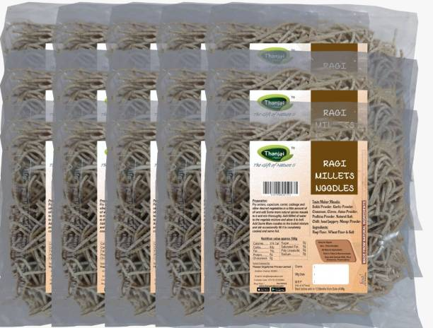 THANJAI NATURAL Ragi Millets Noodles 180g X 15 (Processed with Natural Ingredients , No Chemicals and No Preservatives) Instant Noodles Vegetarian