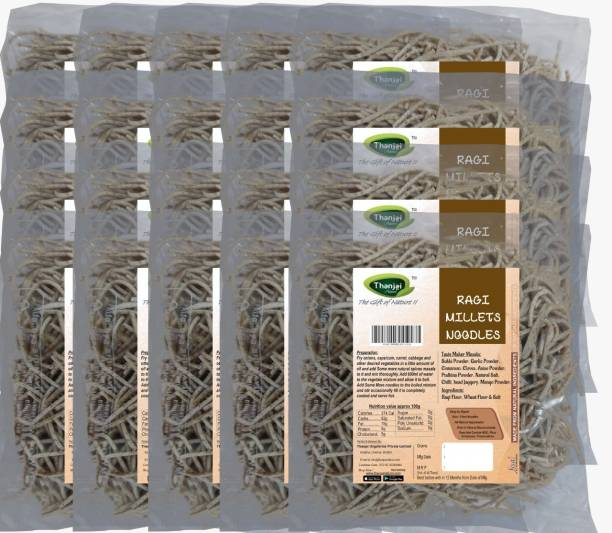THANJAI NATURAL Ragi Millets Noodles 180g X 20 (Processed with Natural Ingredients , No Chemicals and No Preservatives) Instant Noodles Vegetarian