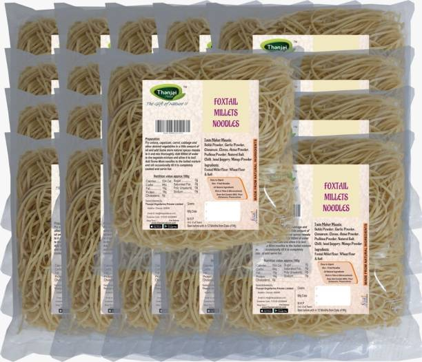 THANJAI NATURAL Foxtail Millets Noodles 180g X 20 (Processed with Natural Ingredients , No Chemicals and No Preservatives) Hakka Noodles Vegetarian