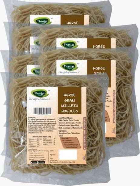 THANJAI NATURAL Horsegram Millets Noodles 180g X 6 (Processed with Natural Ingredients , No Chemicals and No Preservatives) Instant Noodles Vegetarian