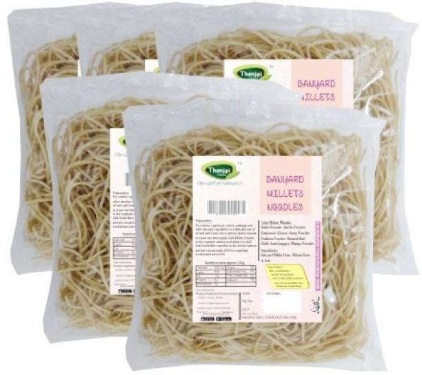 THANJAI NATURAL Barnyard Millets Noodles 180g X 5 (Processed with Natural Ingredients , No Chemicals and No Preservatives) Instant Noodles Vegetarian