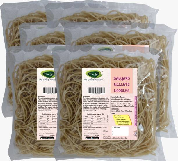 THANJAI NATURAL Barnyard Millets Noodles 180g X 6 (Processed with Natural Ingredients , No Chemicals and No Preservatives) Instant Noodles Vegetarian