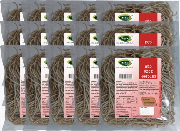 THANJAI NATURAL Red Rice Millets Noodles 180g X 15 (Processed with Natural Ingredients , No Chemicals and No Preservatives) Instant Noodles Vegetarian