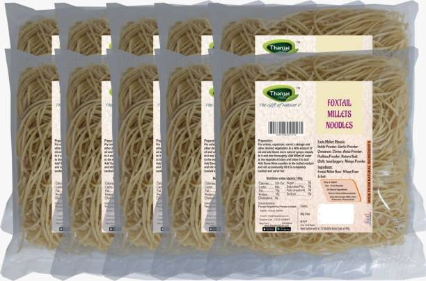THANJAI NATURAL Foxtail Millets Noodles 180g X 10 (Processed with Natural Ingredients , No Chemicals and No Preservatives) Instant Noodles Vegetarian