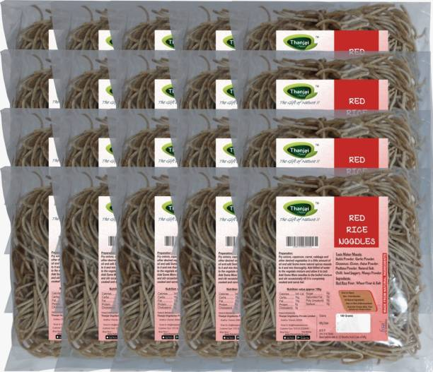 THANJAI NATURAL Red Rice Millets Noodles 180g X 20 (Processed with Natural Ingredients , No Chemicals and No Preservatives) Instant Noodles Vegetarian