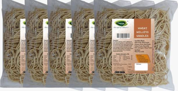 THANJAI NATURAL Wheat Millets Noodles 180g X 5 (Processed with Natural Ingredients , No Chemicals and No Preservatives) Instant Noodles Vegetarian