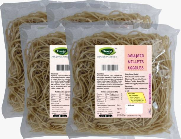 THANJAI NATURAL Barnyard Millets Noodles 180g X 4 (Processed with Natural Ingredients , No Chemicals and No Preservatives) Instant Noodles Vegetarian