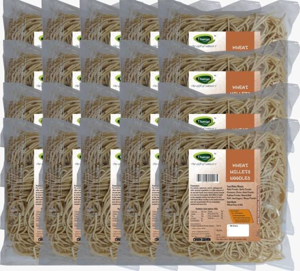 THANJAI NATURAL Wheat Millets Noodles 180g X 20 (Processed with Natural Ingredients , No Chemicals and No Preservatives) Instant Noodles Vegetarian