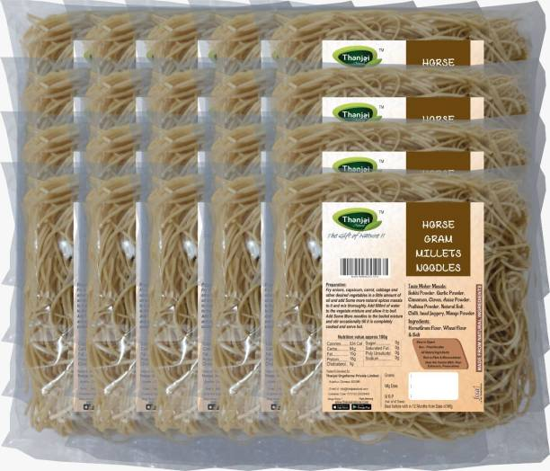 THANJAI NATURAL Horsegram Millets Noodles 180g X 20 (Processed with Natural Ingredients , No Chemicals and No Preservatives) Instant Noodles Vegetarian