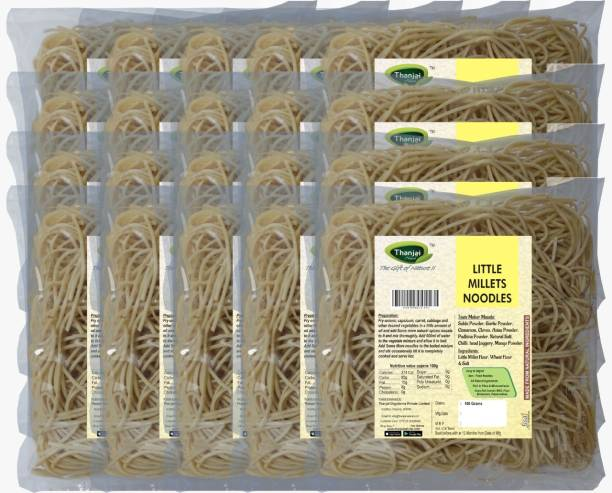 THANJAI NATURAL Little Millets Noodles 180g X 20 (Processed with Natural Ingredients , No Chemicals and No Preservatives) Instant Noodles Vegetarian