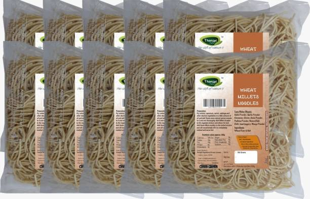 THANJAI NATURAL Wheat Millets Noodles 180g X 10 (Processed with Natural Ingredients , No Chemicals and No Preservatives) Instant Noodles Vegetarian