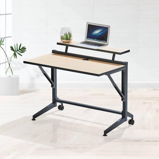 Featherlite Flip foldable Engineered Wood Office Table