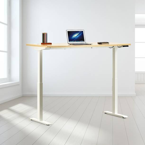 Featherlite Motorized Height Adjustable Engineered Wood Office Table