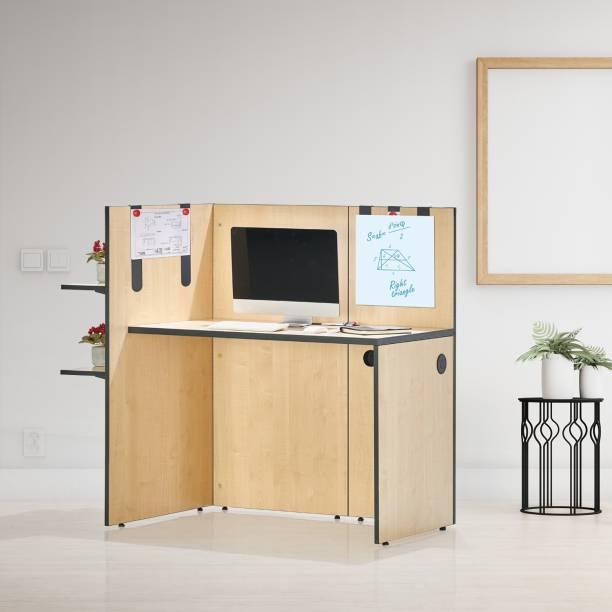 Featherlite Work hub Engineered Wood Office Table