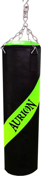 Aurion 4 Feet Unfilled Heavy Punch Bag Punching Training Kickboxing with Hanging Chain Hanging Bag