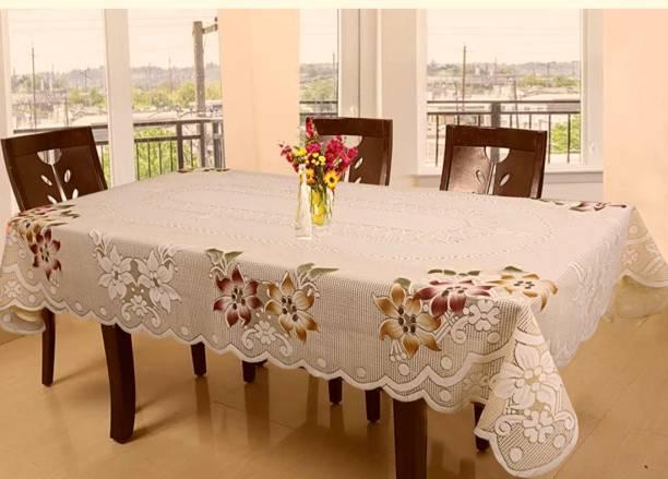 DELHI PVC CORP Self Design 6 Seater Table Cover