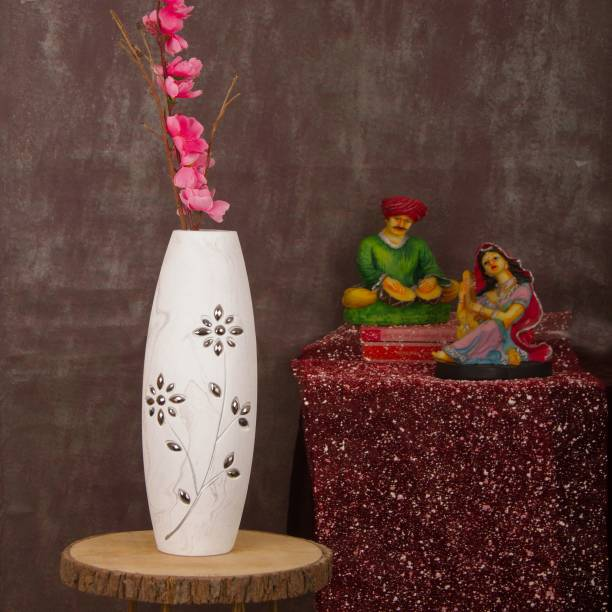 TIED RIBBONS Wooden Vase
