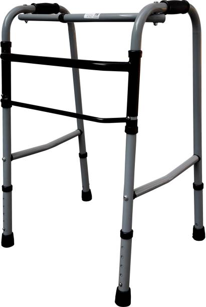 Entros W779A Portable Light weight Aluminum Height Adjustable Foldable Walker for Men Women Adults Patients Disabled and Old Age People Pain Relief Walking Stick