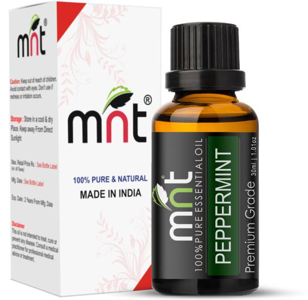 mnt Peppermint Essential Oil (30ML) 100% Pure Natural & Therapeutic Grade For Aromatherapy, Skin, Acne & Hair Growth