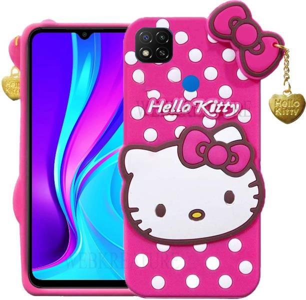 WEBKREATURE Back Cover for Mi Redmi 9, Cute Hello Kitty Case