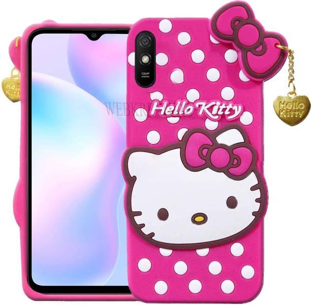 WEBKREATURE Back Cover for Mi Redmi 9A, Mi Redmi 9i, Cute Hello Kitty Case