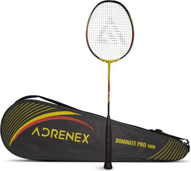Adrenex by Flipkart Dominate Pro 7000 Graphite Multicolor Strung Badminton Racquet