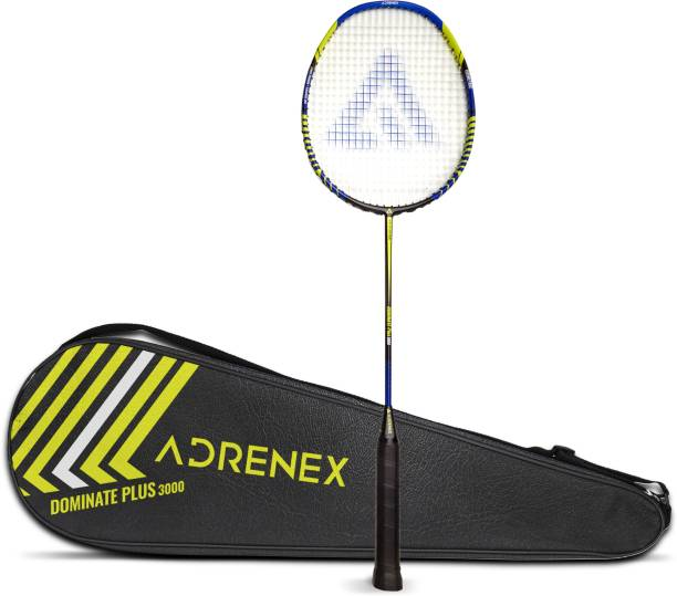 Adrenex by Flipkart Dominate Plus 3000 Graphite Multicolor Strung Badminton Racquet