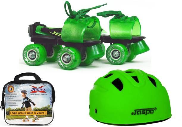 brand new d8cea f9496 Jaspo Green Masters Dual junior Skates Combo (skates+helmet+bag)suitable for