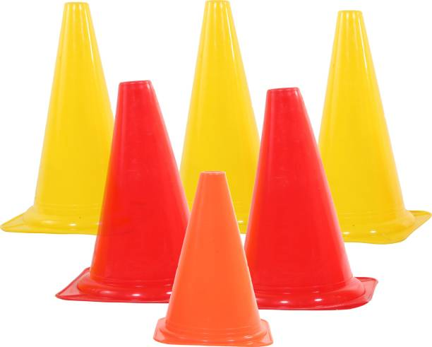 PEPUP Training Marker Cones 6 inch (Set of 6) Football Kit