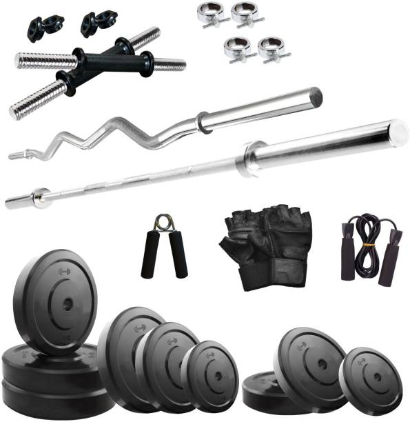 KRX 20 kg Solid Rubber COMBO 2-WB Home Gym Combo