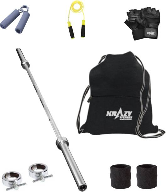 Krazy Fitness Exercise Combo With 3 ft. Gym Bar   Accessories Gym   Fitness Kit