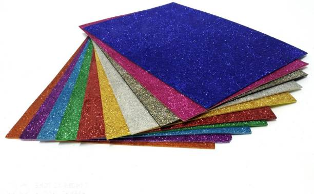 AWAN A3 SIZE MULTICOLOR GLITTER SHEETS PACK OF 10 42 cm Acrylic Sheet