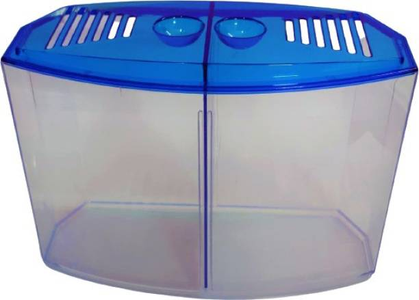 HAPPY FINS Betta House Double | Betta Tank Rectangle Aquarium Tank