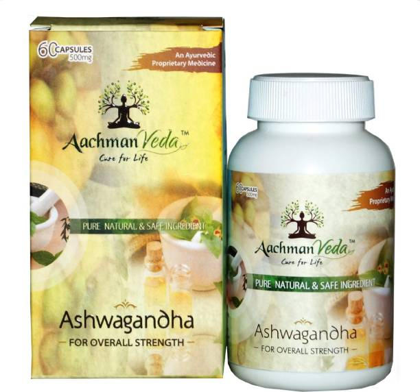 Aachman Veda Ashwagandha Capsules For Overall Strength 500 Mg