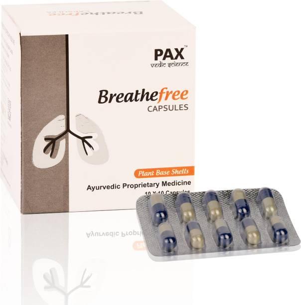 PAX Vedic Science Breathefree Ayurvedic Pills for Respiratory Health, Lung Detox