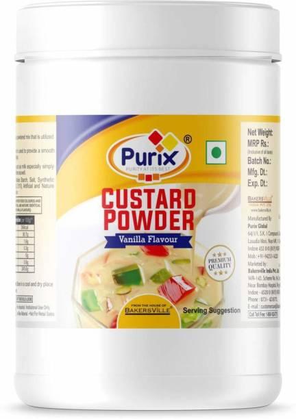 PURIX Custard Powder - (Vanilla flavour) Custard Powder