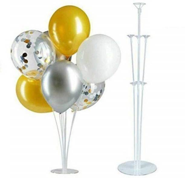 Smartcraft Solid Balloon Stands, Balloon Holder with 7 Balloon Sticks, 7 Balloon Cups and 1 Balloon Base for Birthday | Wedding Party, Holidays, Anniversary Decorations ( Pack of 2) Balloon Bouquet