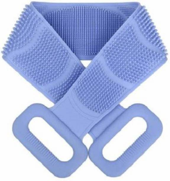 PIRENE Silicone Back Scrubber Belt Soft Body Massage Cleaning Exfoliating