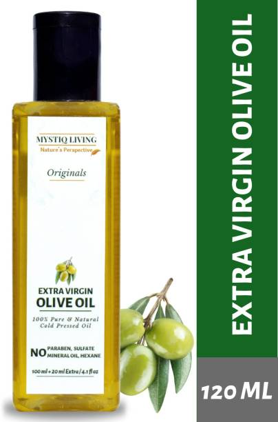 Mystiq Living Extra Virgin Olive Oil (100% Pure & Cold Pressed For Skin, Body & Hair